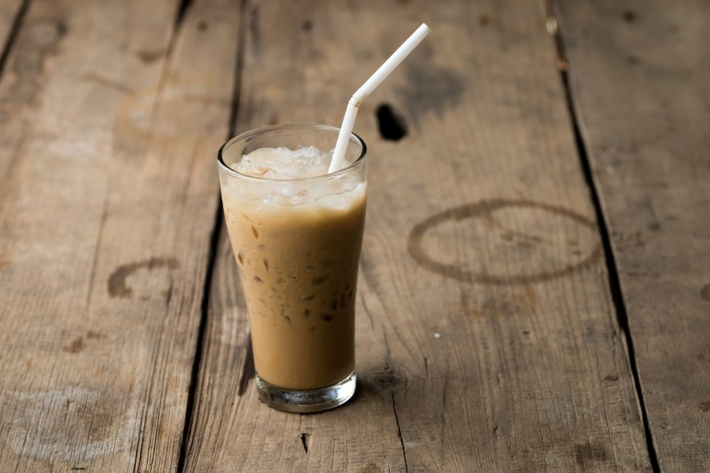 Iced coconut chai latte