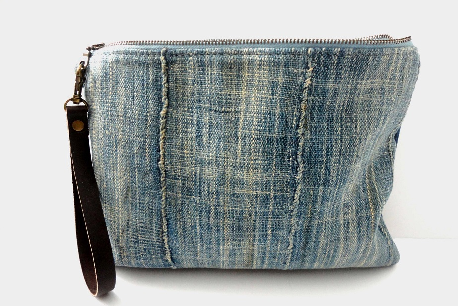 Repurposed Indigo bag